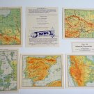 1930's KING PEPERMUNT PEPPERMINT Illustrated DUTCH Cards NETHERLANDS Map LOT