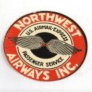 Early Vintage Northwest Airways Inc. Unused Luggage Baggage Label Airmail
