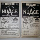 Sealed Vintage NuAce Mounting Corners Scrapbooking Lot of 2 - 1 sealed 1 opened