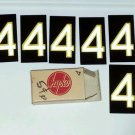 #4 (6) Six Number 4's Vintage Hy-ko Sign Letter Aluminum Metal NOS Never used