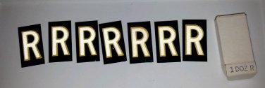 7 R's Vintage Hy-ko Sign Letter Aluminum Metal Letters NOS Never used
