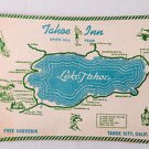 Vintage TAHOE INN & Harold's CLUB Advertising Placemat Brochure Lake Tahoe CA NV