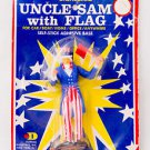 1976 Dashboard Uncle Sam w/ Flag No. 1776 In Sealed Original Package 1970's Toy
