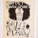 """WW2 Army """"Kaydet Caricatures"""" Cartoons Extremely Rare 1940's Illustrations Paper"""