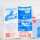 Vintage 1978 Championship Car Race California 500 Map Brochure Ontario Speedway