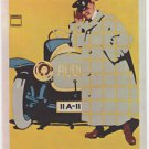 1967 Audi Automobil-Werke Post Card of Famous Poster RARE PIECE Ludwig Hohlwein