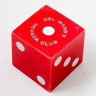 Vintage Del Webb's Nevada Club LARGE DIE Reno / Las Vegas / One Dice RARE