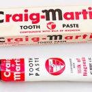 1955 Craig-Martin Tooth Paste Tube In Original Box Toothpaste Milk of Magnesia