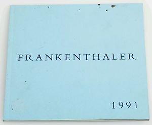 1991 Helen Frankenthaler Art Gallery Catalog Book Andre Emmerich New York City