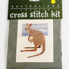 Australiana Cross Stitch Kit Australian Kangaroo & Joey NEW SEALED Australia