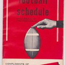 EARLY TIMES 1961 PRO AND COLLEGE FOOTBALL SCHEDULE BOOKLET NFL: AFL NCAA