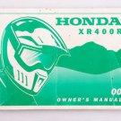 2001 Honda XR400 R Motorcycle Dirt Bike Owners Manual XR 400 (missing pages)