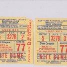 1965 NEW YORK METS vs. Pittsburgh TICKET STUB Coupon Roberto Clemente 9/28/65