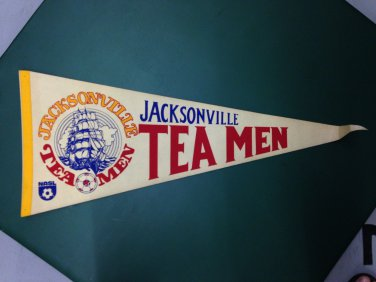 Jacksonville Tea Men 1970'S NASL SOCCER FOOTBALL PENNANT FLAG Vintage Rare