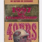 1997 NFL NFC Championship Game Ticket Stub SF 49ers Green Bay Packers 3COM Park