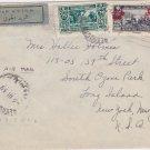1939 Lebanon Cover Stamps Postmarked Beirut Old Stamp Envelope Baghdad Iraq