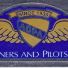 """AOPA Aircraft Owners and Pilots Association Decal 6"""" x 2"""" - Mirrored"""