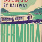 1933 Bermuda Railway Booklet & Map Railroad Seeing the Sights History Ads Photos