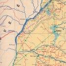 """Touring Club Du Congo Belge Carte Routiere du Panneau Nord & Sud 43"""" x 22"""" map"""