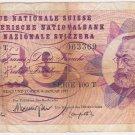1977 SWITZERLAND 10 FRANKEN SUISSE BANKNOTE SERIE 100 T Money Currency Bill