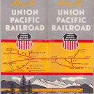 ALONG THE UNION PACIFIC RAILROAD OVERLAND BOOKLET 1950 brochure paper schedule