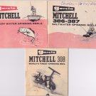 1970's Vintage Garcia Mitchell Fishing Reel Guides Lot of 3 307 - 386-387 France