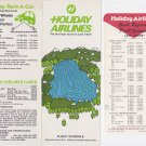 1970 Holiday Airlines timetable Flight Schedule June 26 Lake Tahoe LOT Vintage