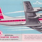 1962 PSA Pacific Southwest Airlines timetable Flight Schedule Lockheed 10/1/62
