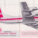 1963 PSA Pacific Southwest Airlines timetable Flight Schedule Lockheed 9/20/63