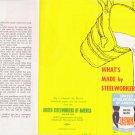 1970 United Steelworkers of America Brochure AFL-CIO UNION MADE VINTAGE USWA