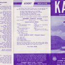 1960's KAUAI Hawaii The Gray Line Brochure Map Booklet Bus Route Map Vintage HI