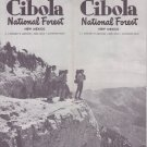 CIBOLA, NM National Forest NEW MEXICO 1968 Map & Brochure Pecos Wilderness