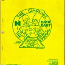 Data East THE SIMPSONS Pinball Machine Manual 1990 Complete w/ Diagrams 59 pages