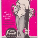 Hotel Fremont and Casino Las Vegas Nevada Brochure Lady Luck Nevada 1960s