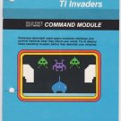 Texas Instruments TI-99/4a TI INVADERS Software Game & Instruction Book Command