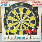 Vintage Sportcraft Dart Board Game w/ Darts Made in England by Unicorn Unused