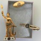 Knights of Columbus Lapel Pin, Tie Clip Cufflink Enamel K of C Fraternal Vintage