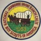 Vintage Boy Scout Scouts 1953 National Jamboree Irvine Ranch Large Patch BSA