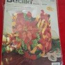 Vintage Bucilla 1998 Plastic Canvas Christmas Poinsettia Tissue Box Kit
