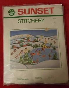 Sunset Stitchery Quilted 1971 Christmas Morn Linda Gillum NIP