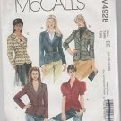 McCall's M4928 Ms Ms Petite Jackets Pattern Size EE 14 16 18 20