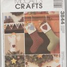 McCall's Crafts 3844 Assorted Christmas Crafts  Uncut