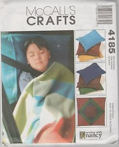 McCall's Crafts 4185   Cozy Lap Quilt and Pillow Cases Pattern Sewing with Nancy