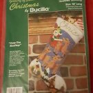 Bucilla  Over The Rooftop Jeweled Christmas Stocking Embroidery Kit NIP