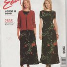 McCall's Easy Stitch n Save 2838 Unlined Jacket  Dress  Size B 18 20 22 24