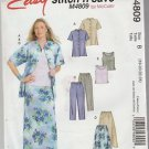 McCall's M4809  Easy Stitch n Save Skirt Top Pants Patterns Size B 18 20 22 24