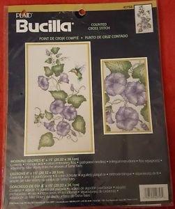Bucilla Morning Glories with Hummingbird Counted Cross Stitch Kit