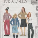 McCall's Girls Plus 3809  Cardigan Skirt Pants Size 10.5  12.5  14.5  16.5