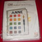 Columbia Minerva Needlepoint Idea kit #8295 PAINT BOX Plastic Canvas