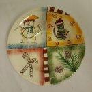 Pfaltzgraff HOLIDAY MAGIC Soup Bowl  Christmas Snowman Candy Canes